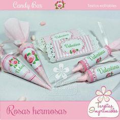 Kit de etiquetas de golosinas Rosas hermosas