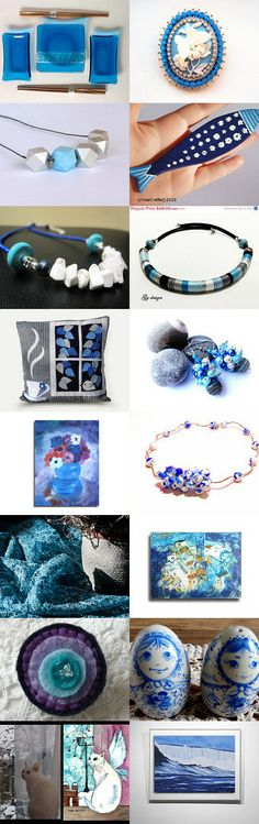 I just love the blues  by Ali B on Etsy--Pinned with TreasuryPin.com