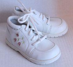 Kid Smart Baby Toddler Girls Size 6.5 Leather High Top Walking Shoe NWOT or Box #BabySmart #hightopwalkingshoes