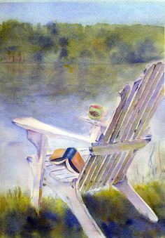 """""""Solitude"""" watercolor - by S. E. Martin"""