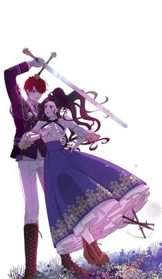 Webtoon A Royal Princess with black hair Anime Toon, Otaku Anime, Anime Guys, Manga Anime, Anime Love Couple, Cute Anime Couples, Anime Fairy, Anime Angel, Anime Korea