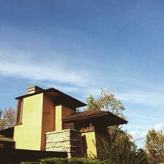 Instgrammer @ztothemoney spent the day at Frank Lloyd Wrights home/studio #taliesin near Spring Green, WI #franklloydwright #wisconsin #driftlessregion
