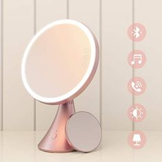 Costumes & Accessories Led Touch Screen Rotatable Bluetooth Operated Makeup Mirror 10x Magnifying Usb 2 Led Bars Music Cosmetic Table Desktop Mirror Novelty & Special Use