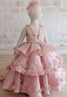 Kids Party Wear Dresses, Baby Girl Party Dresses, Birthday Girl Dress, Girls Pageant Dresses, Gowns For Girls, Frocks For Girls, Dresses Kids Girl, Flower Girl Dresses, Party Gowns