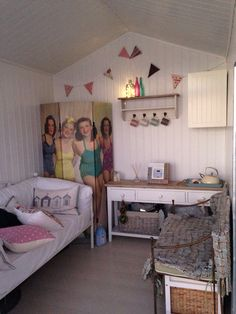 Beach huts on pinterest 78 pins for Beach hut interior ideas