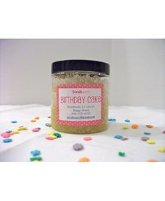 product birthday cake scrub