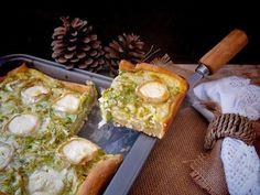 Prepara esta tarta salada con queso de cabra. ¡Está riquísima!
