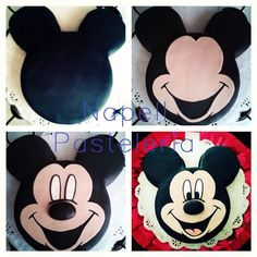 Bolo Do Mickey Mouse, Mickey And Minnie Cake, Mickey Cakes, Mickey Mouse Clubhouse Birthday, Minnie Mouse Cake, Mickey Birthday, Theme Mickey, Mickey Party, Pastel Mickey