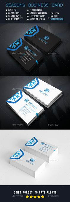 Cube Seasons Corporate Business Cards