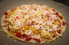 Såååå god räkpizza GI/LCHF - 56kilo.se - Wellness, LCHF & Livsstil! Lchf, Low Carb Pizza, Low Carb Keto, Hawaiian Pizza, Fajitas, Macaroni And Cheese, Foodies, Cabbage, Curry