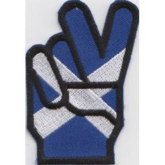 Scotland Scottish Flag V for Victory Embroidered Patch Badge