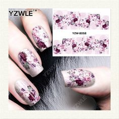 YZWLE  1 Sheet DIY Designer Water Transfer Nails Art Sticker / Nail Water Decals / Nail Stickers Accessories (YZW-8058)