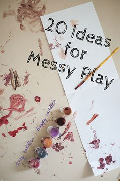 20 Ideas for Messy Play