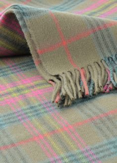 British Made Luxury Lambswool Blanket Rug in Kennedy Weathered Tartan by Lochcarron – The Tartan Blanket Co.