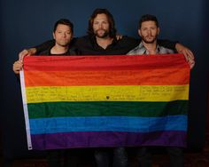 They have helped me through tough times and this is one of them. Im am glad that I know who they are and how they have changed my life! Thank you Jensen Ackles, Jared Padeleki, and Misha Collins!!!! (Also is that how you spell Padaleki cause I still don't know...)