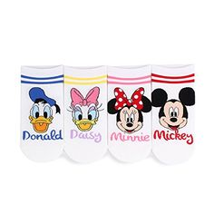 Choice Set Disney Pixar Marvel Socks Mickey Minnie Mouse (2line Friends 4pairs) at Amazon Women's Clothing store: