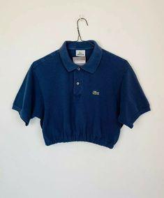 Polo Shirt Outfits, Polo Shirt Women, Polo Crop Top, Crop Tops, Lacoste, Pretty Outfits, Cute Outfits, Cc Fashion, Shirt Refashion