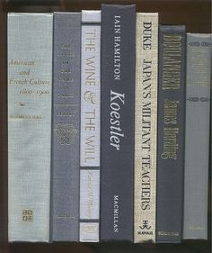 Black and Gray Books set of 7  Vintage decor by CalhounBookStore, $24.75