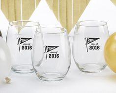 Finally! Class of 2016 15 oz. Stemless Wine Glass (Set of 4)