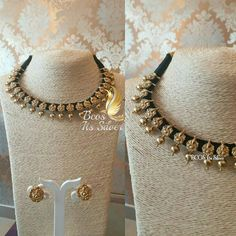 Pure silver gold plated Ganesha rope necklace set ...2 sets Available...#bcositssilver #ganeshalover #ganesha #ropenecklace