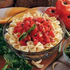 Pasta with Tomatoes at 245 calories a serving