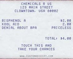 harmful chemicals in your receipt?