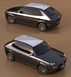 a tribute to pio manzu fiat 127 concept by david obendorfer – En Güncel Araba Resimleri 147 Fiat, Chevette Hatch, Fiat Abarth, Futuristic Cars, Top Cars, Small Cars, Retro Cars, Automotive Design, Sport Cars