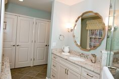 Master Bathroom Renovation - new layout creates 'bathroom suite'.