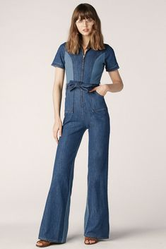 42bf38b54813 Blue Jean Baby Denim Jumpsuit I NEED THIS❣  denimjumpsuit  womensdenim  70s   womensfashion