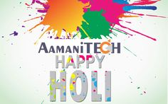 Wishing you and your family a very bright,colourful and joyful holi.With love and best wishes. @aamanitech