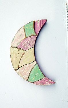 wooden cresent moons | Pink Crescent Moon Distressed Wood Art Rustic Wall by woodenaht, $36 ...
