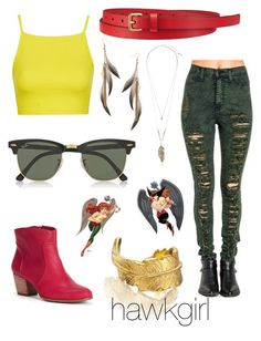 """""""hawkgirl"""" by luiglesias ❤ liked on Polyvore"""