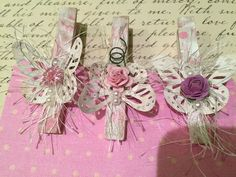 SHabby Chic Altered Clothes Pins by GrnpasPreciousBlooms on Etsy