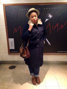 Vintage coat .. Vintage Hat ..