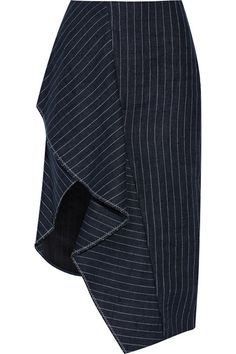 3.1 PHILLIP LIM Draped Pinstriped Linen Skirt. #3.1philliplim #cloth #skirts