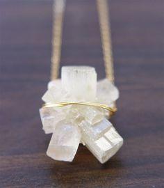 Vanilla Aragonite Necklace by Friedasophie https://www.etsy.com/shop/friedasophie