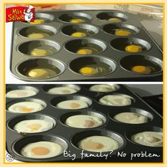 Just oil a muffin tray, crack some eggs, and bake for 10-15 minutes…and voila! A dozen perfectly done eggs! #RecipeOfTheWeek #Cooking #MonSalwa