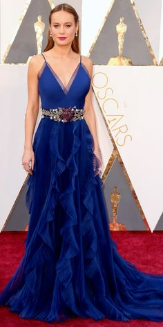 Our Top 10 Best Dressed Women at the Oscars: Do You Agree? - Brie Larson in Gucci - from InStyle.com