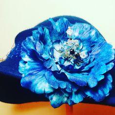 Шляпка фетр 100 % авторская работа Камилла  Цветок брошь шелк Цена15000руб