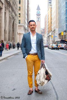mustard yellow pants #Menswear #Toronto