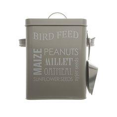 Bird Seed Tin. sandblast
