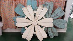 Handmade wood flowers. $50