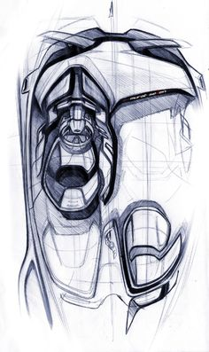 Ford Evos interior sketch by Murat Seven