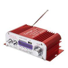 Kentiger HY3006 2 Channel Hi-Fi Audio Stereo Mini Amplifier Car Home MP3 USB FM SD w/ Remote 12V Sale - Banggood.com