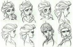 """Frozen"" concept art for Elsa (3)"