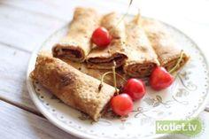 FIT Naleśniki: 10 Pysznych Przepisów Dessert Recipes, Desserts, Pancakes, Healthy Recipes, Healthy Meals, Ethnic Recipes, Fit, Tailgate Desserts, Clean Eating