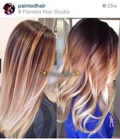 Dark root, caramel, pearl blonde