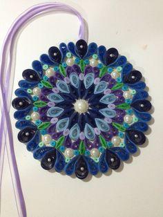 Mandala quilling 07 - com 15cm de diâmetrovendida