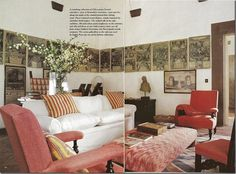 Pucci's home in Italy. Love the coral.