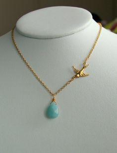 bird necklace - possible bridesmaid jewelry idea